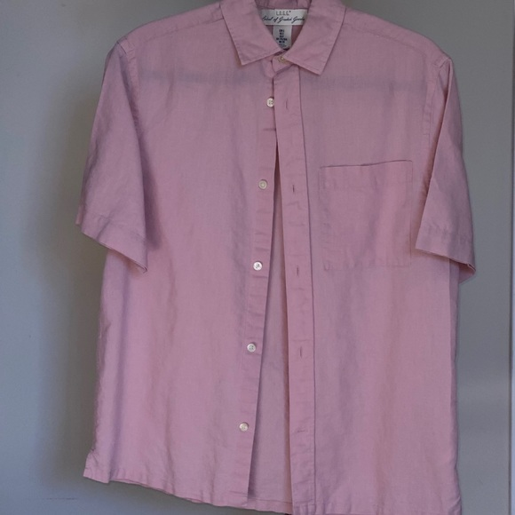 H&M Men Pink Casual Button Up